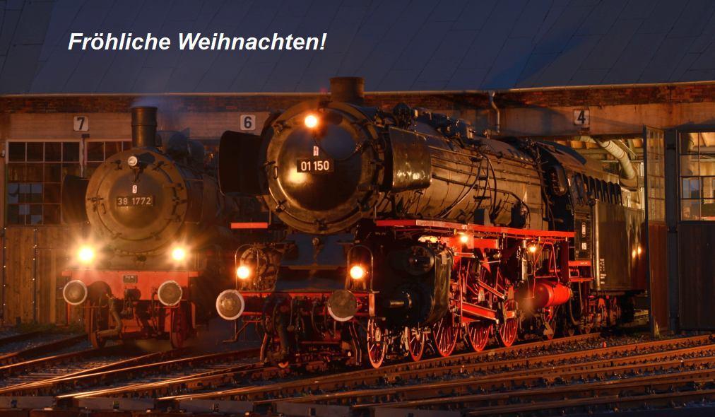 38 1772 und 01 150 im Bw Hanau auf einer Fotoveranstaltung von Dietmar Kramer im Mai 2019