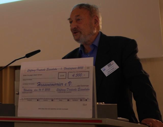 Klaus Schulte beim Vortrag Foto-Saarbourg